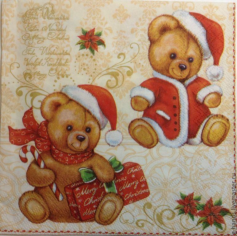 салфетки для декупажа новогодние фото
