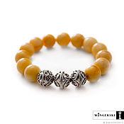 Украшения handmade. Livemaster - original item Bracelet Vintage openwork of Baltic amber with silver charms. Handmade.
