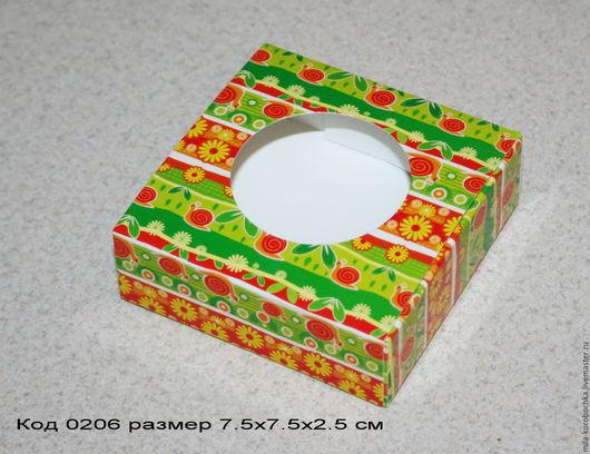 Коробочка квадратная код 0206   размер 9х6.5х2.5 см