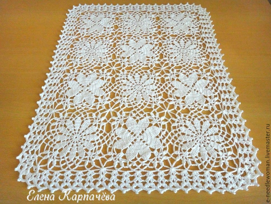 Napkin with openwork motifs, Doilies, Omsk,  Фото №1