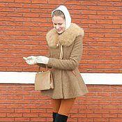 """Одежда ручной работы. Ярмарка Мастеров - ручная работа Миниатюрное пальто """"Нежный трюфель"""", зима. Handmade."""