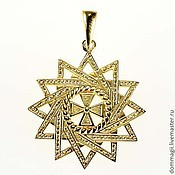 Amulet handmade. Livemaster - original item Ertsgamma`s star gold. Handmade.