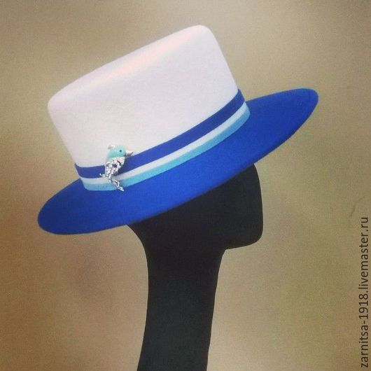 Шапки ручной работы. Ярмарка Мастеров - ручная работа. Купить Моя Морячка. Handmade. Комбинированный, шляпка, шляпа, дизайнерские шляпки