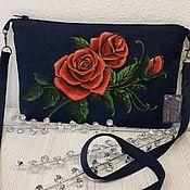 Классическая сумка ручной работы. Ярмарка Мастеров - ручная работа Джинсовая сумочка. Handmade.