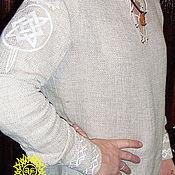 Русский стиль handmade. Livemaster - original item Shirt linen Star of Russia. Handmade.