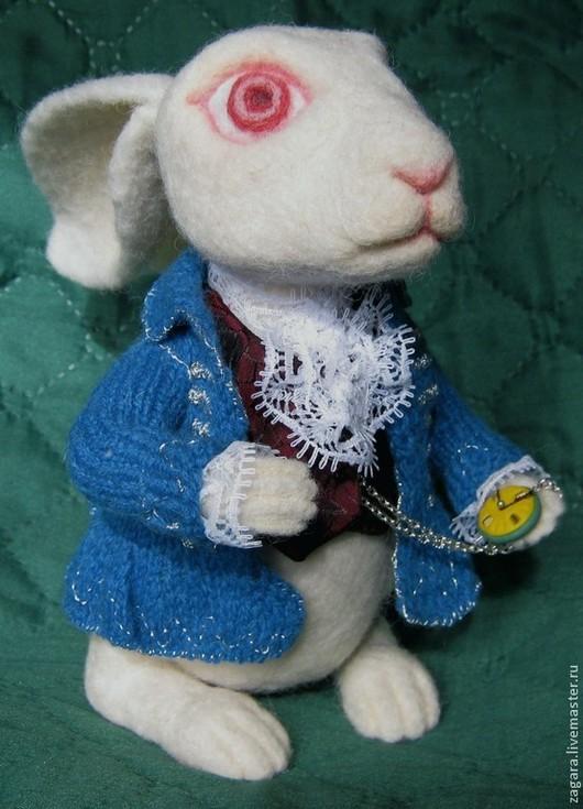 Игрушки животные, ручной работы. Ярмарка Мастеров - ручная работа. Купить Белый кролик, войлочный. Handmade. Белый, люрекс