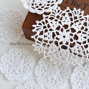Materials for creativity handmade. Livemaster - original item The openwork napkins set of 6-11cm. Handmade.