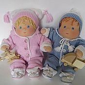 Куклы и игрушки ручной работы. Ярмарка Мастеров - ручная работа Братишка и сестренка - куклы вальдорфские 30 см. Handmade.