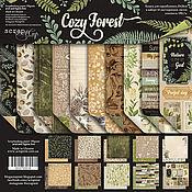 Материалы для творчества handmade. Livemaster - original item Set SM3700016 Paper Cozy Forest. Handmade.