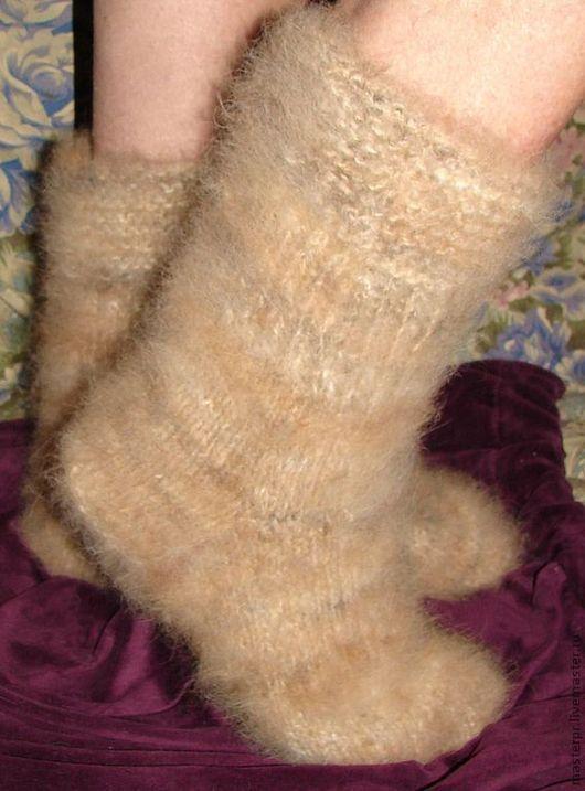 носки женские на полную ногу для применения по дому \r\nручная работа \r\nноски из пуха колли