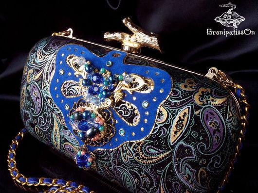 """Женские сумки ручной работы. Ярмарка Мастеров - ручная работа. Купить Клатч """"Royal indigo"""". Handmade. Тёмно-синий"""