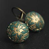 Украшения handmade. Livemaster - original item Earrings green. Handmade.