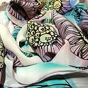 Аксессуары ручной работы. Ярмарка Мастеров - ручная работа Шарф батик шёлк 100% крепдешин графика. Handmade.