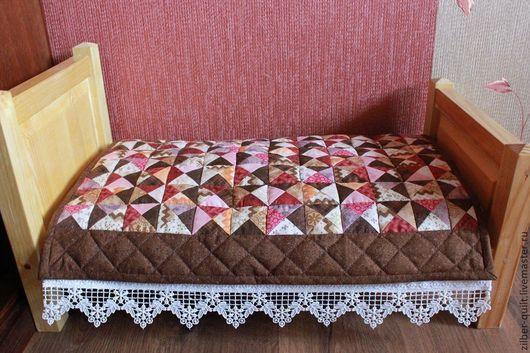 Кукольный дом ручной работы. Ярмарка Мастеров - ручная работа. Купить Кукольное лоскутное одеяло Деревенька, пэчворк. Handmade.