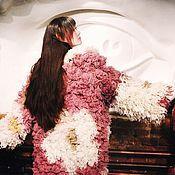 """Одежда ручной работы. Ярмарка Мастеров - ручная работа Жакет шубка """"Цветение сакуры"""" крючком из овечьей шерсти. Handmade."""