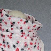 Аксессуары ручной работы. Ярмарка Мастеров - ручная работа валяный шарф-труба BLACK-RED-WHITE (снуд, хомут). Handmade.