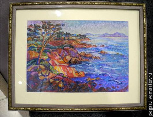 """Пейзаж ручной работы. Ярмарка Мастеров - ручная работа. Купить Картина """"Морской пейзаж"""". Handmade. Комбинированный, картина"""