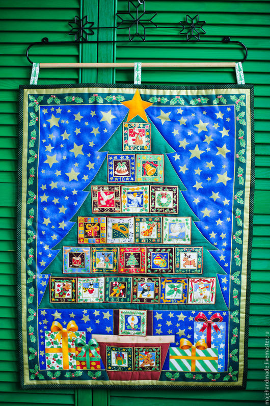 """Детская ручной работы. Ярмарка Мастеров - ручная работа. Купить Адвент-календарь """"Елочка"""". Handmade. Комбинированный, подарок на новый год"""