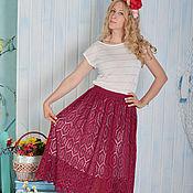 """Одежда ручной работы. Ярмарка Мастеров - ручная работа """"Шарлиз"""" кружевная летняя  вязаная крючком юбка из хлопка. Handmade."""