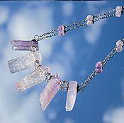 Украшения handmade. Livemaster - original item Lavender ice - minimalist necklace amethyst. Handmade.
