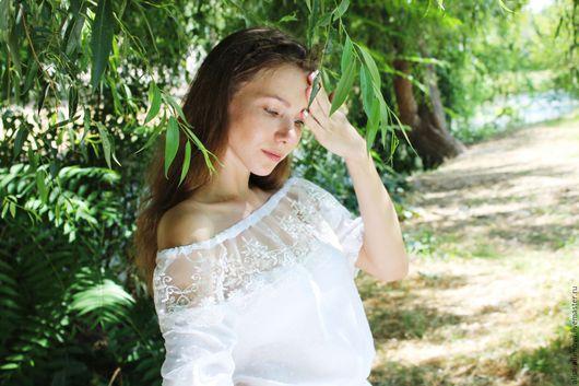 """Блузки ручной работы. Ярмарка Мастеров - ручная работа. Купить Летняя белая бохо блузка """"Чолли"""". Handmade. Белый"""