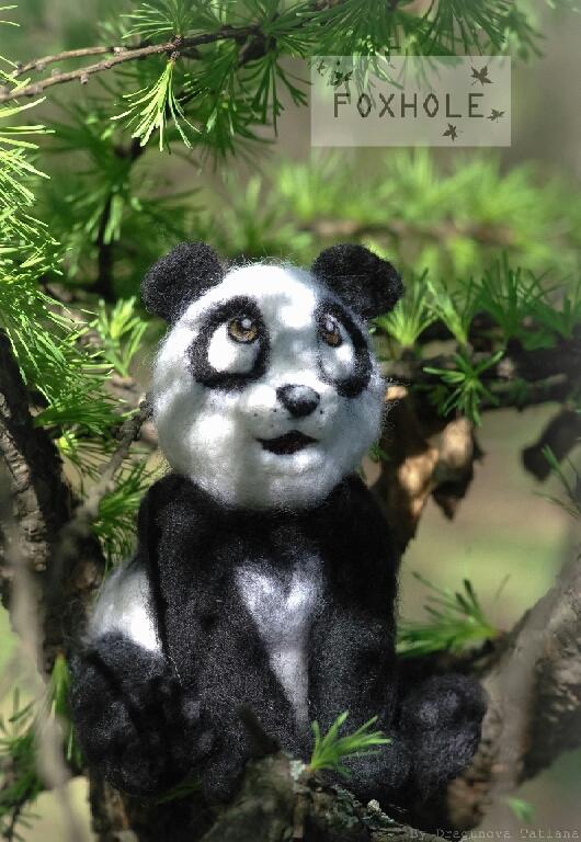 Игрушки животные, ручной работы. Ярмарка Мастеров - ручная работа. Купить Войлочная интерьерная игрушка Панда. Handmade. Войлочная игрушка