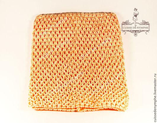 Шитье ручной работы. Ярмарка Мастеров - ручная работа. Купить Топ большой, персиковый, 2005. Handmade. Топ, топ акриловый