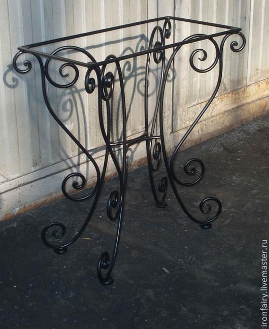 Мебель ручной работы. Ярмарка Мастеров - ручная работа. Купить Столик кованый. Handmade. Черный, Ковка, Мебель, прихожая, подарок