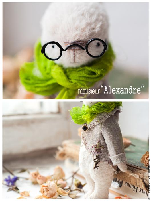 Мишки тедди ручной работы. На фото тедди заяц `monsieur Alexandre`, тедди зайка в одежде, тедди заяц мальчик , мишки тедди от Анна Палто, Ярмарка мастеров