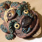 Для дома и интерьера ручной работы. Ярмарка Мастеров - ручная работа Счастливая китайская жаба керамическая скульптура. Handmade.