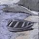 Пейзаж ручной работы. Ярмарка Мастеров - ручная работа. Купить Лодка №6. Handmade. Серый, холодный серый, пейзаж, вечер