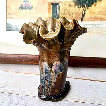 Для дома и интерьера ручной работы. Ярмарка Мастеров - ручная работа Ваза керамическая.. Handmade.