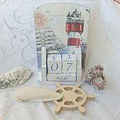 Канцелярские товары handmade. Livemaster - original item Perpetual marine calendar #2. Handmade.