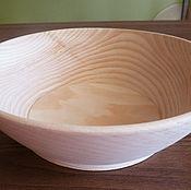 Посуда ручной работы. Ярмарка Мастеров - ручная работа Тарелка деревянная из кедра (салатник). Handmade.