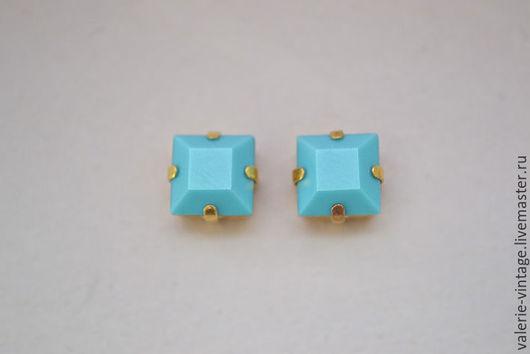 Для украшений ручной работы. Ярмарка Мастеров - ручная работа. Купить Винтажные кристаллы Swarovski 8 х 8 мм. цвет Turquoise. Handmade.