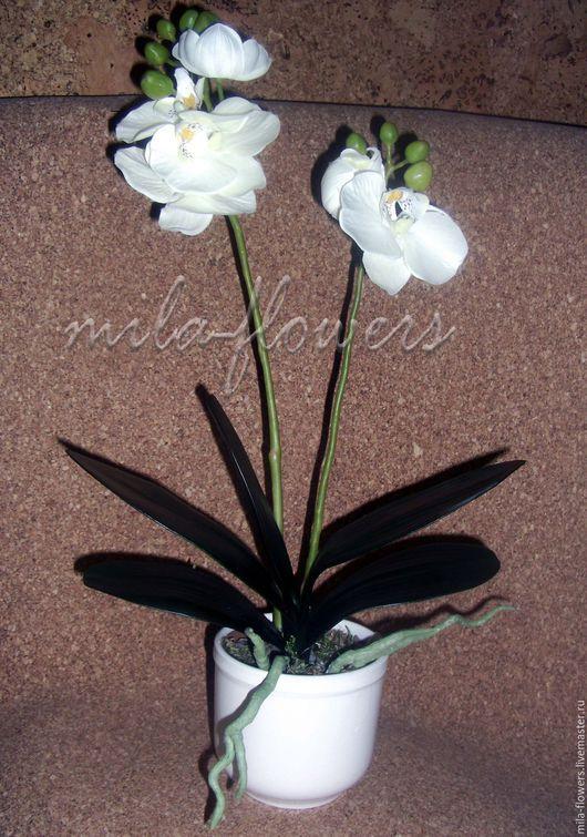 Искусственные растения ручной работы. Ярмарка Мастеров - ручная работа. Купить Орхидея фаленопсис. Handmade. Белый, орхидея, орхидея фаленопсис