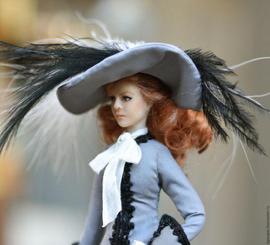 """Портретные куклы ручной работы. Ярмарка Мастеров - ручная работа. Купить """"Анжелика и султан"""". Handmade. Серый, кукольная миниатюра"""