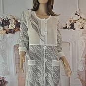 Одежда handmade. Livemaster - original item Cardigan, linen-cotton, ,46-50r., .,52-56r.. Handmade.