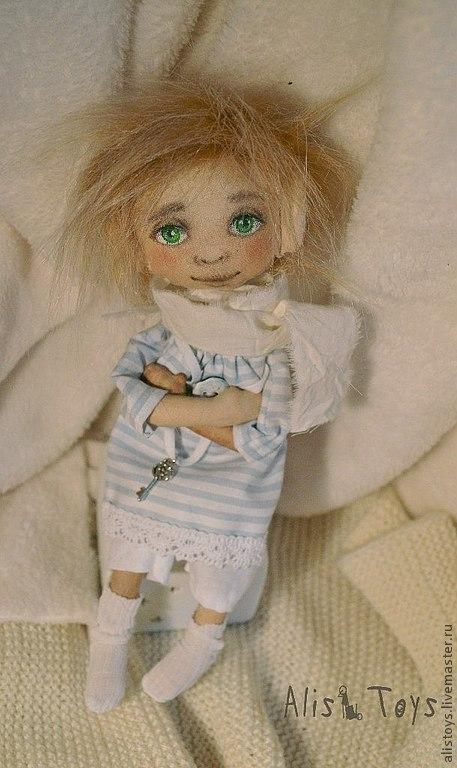 Коллекционные куклы ручной работы. Ярмарка Мастеров - ручная работа. Купить Маленький Сонный Гномик Луис. Handmade. Голубой, соня