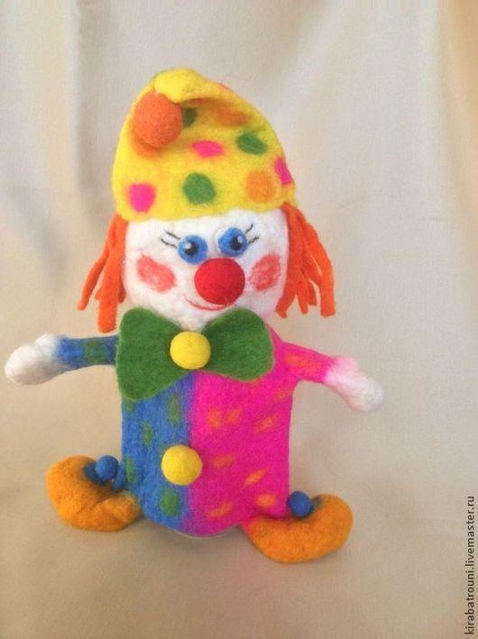 """Кукольный театр ручной работы. Ярмарка Мастеров - ручная работа. Купить Игрушка на руку """" Клоун"""". Handmade. Игрушка, шерсть"""