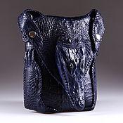 Сумки и аксессуары handmade. Livemaster - original item Crossbody bag from the skin of a crocodile with the head IMA0709VC1. Handmade.