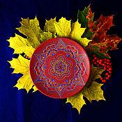 """Тарелки ручной работы. Ярмарка Мастеров - ручная работа Декоративная тарелочка """"Осень"""". Handmade."""