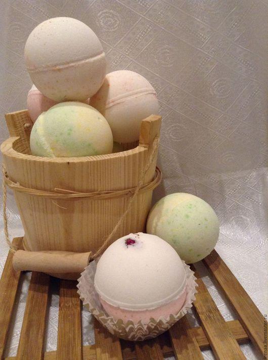Бомбы для ванны ручной работы. Ярмарка Мастеров - ручная работа. Купить Ароматные бомбочки для ванны  с эфирными маслами. Handmade. Ароматерапия