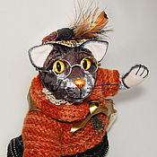 Куклы и игрушки ручной работы. Ярмарка Мастеров - ручная работа Кошка-писательница Агата. Handmade.