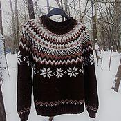 Одежда ручной работы. Ярмарка Мастеров - ручная работа Свитер Шоколадка. Handmade.