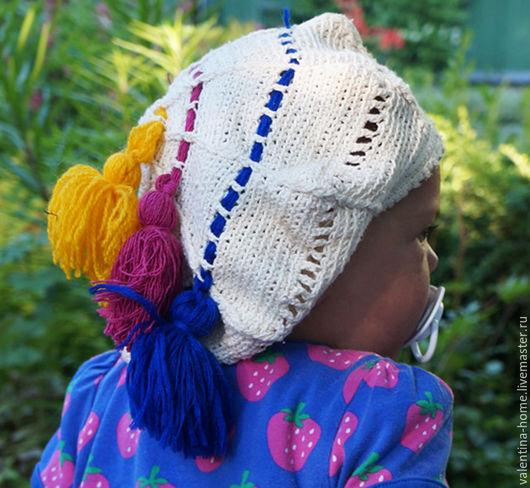 Шапки и шарфы ручной работы. Ярмарка Мастеров - ручная работа. Купить Берет детский с помпонами. Handmade. Бежевый, берет для мальчика