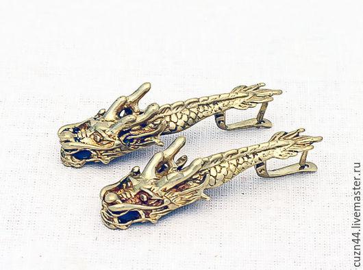 Серьги ручной работы. Ярмарка Мастеров - ручная работа. Купить Серьги Драконы, цвета: золото, серебро. Handmade. Литье