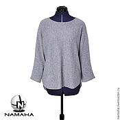Одежда ручной работы. Ярмарка Мастеров - ручная работа Джемпер женский серый, тёплый свитер, свитшот женский тёплый. Handmade.