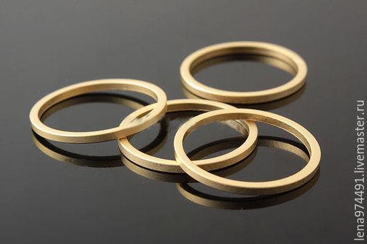Для украшений ручной работы. Ярмарка Мастеров - ручная работа. Купить Два варианта!16мм.  декоративное кольцо - зол. Handmade. Золотой