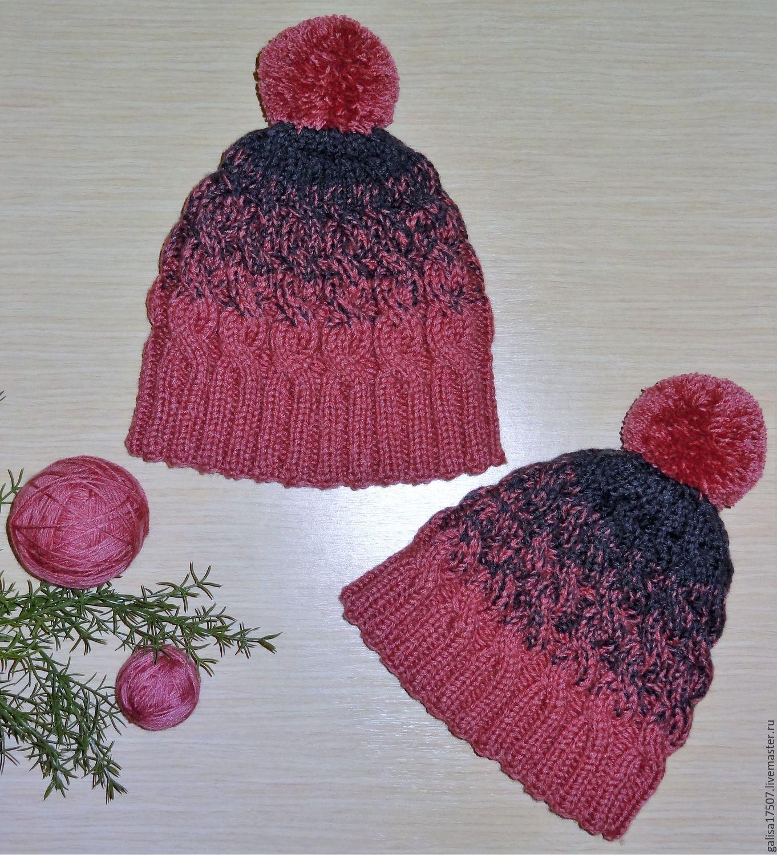 Вязанные шапки с градиентом